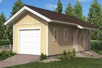 Проект гаража - 1 (36,9 кв.м.)