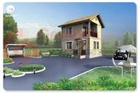 Проект коттеджа Т-8 (Дачный дом) S-60 кв.м.