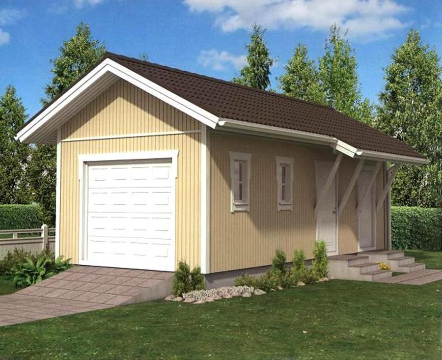Дешевый дом с гаражом своими руками